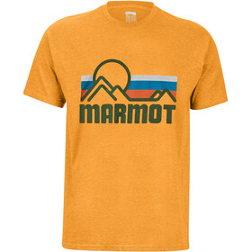 Marmot Coastal Maglietta a maniche corte Uomo, true aztec gold heather